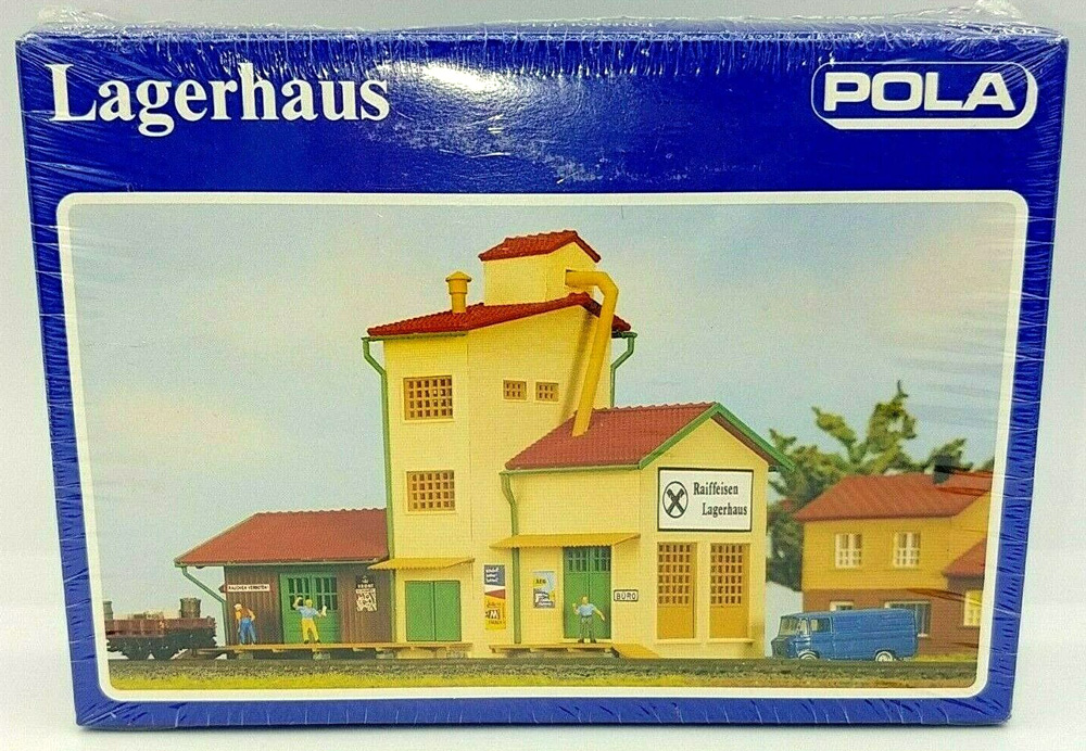 N Scale - Pola - 239 - Freight House - Railroad Structures - Goods Depot