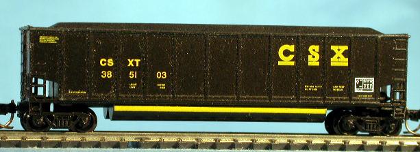 N Scale - LBF Company - 5402-A - Gondola, Bathtub, Trinity Rotary  - CSX Transportation - 12 Different Available