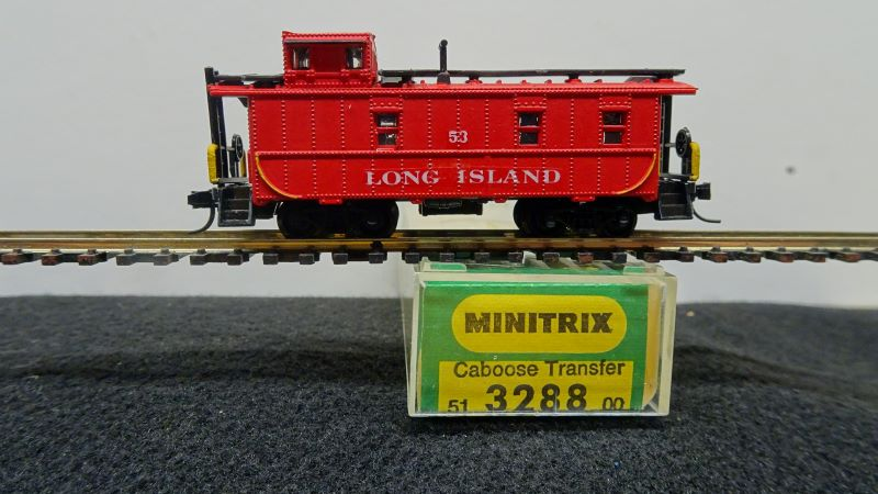 N Scale - Minitrix - 3288 - Caboose, Cupola, Steel - Long Island Rail Road - 53
