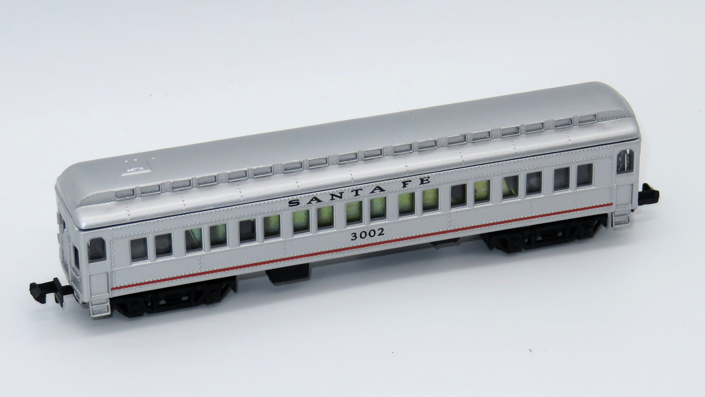 N Scale - Mehano - T772-B - Passenger Car, Heavyweight, ACF Coach - Santa Fe - 3002