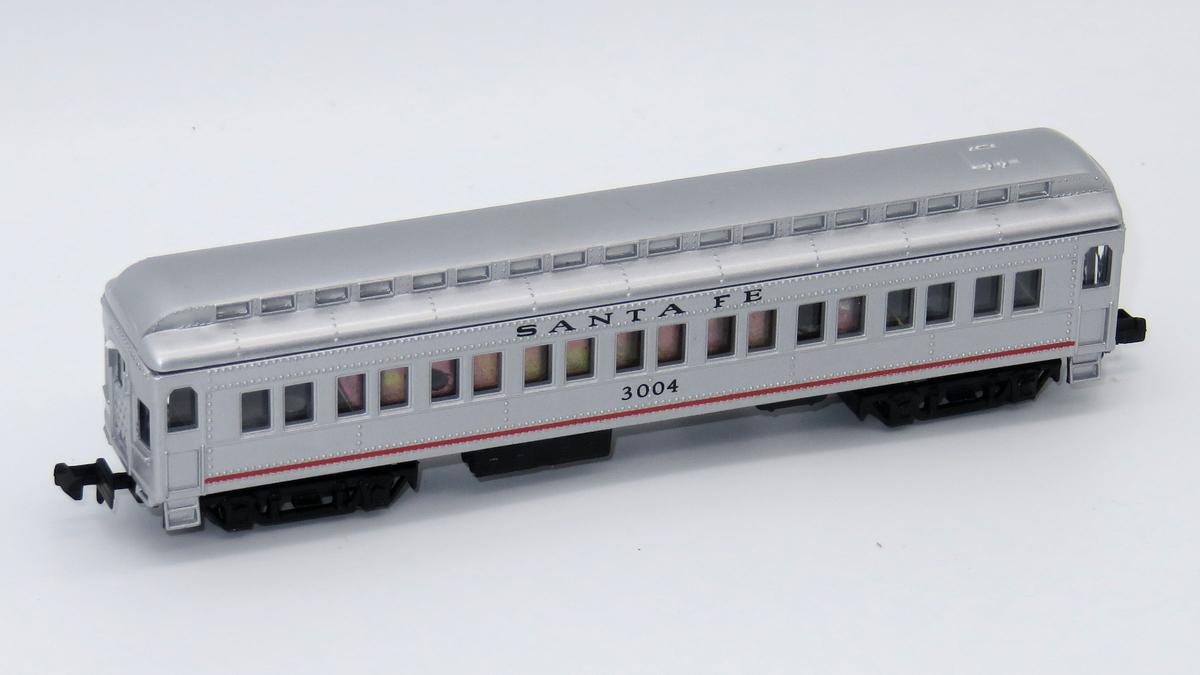 N Scale - Mehano - T772-C - Passenger Car, Heavyweight, ACF Coach - Santa Fe - 3004
