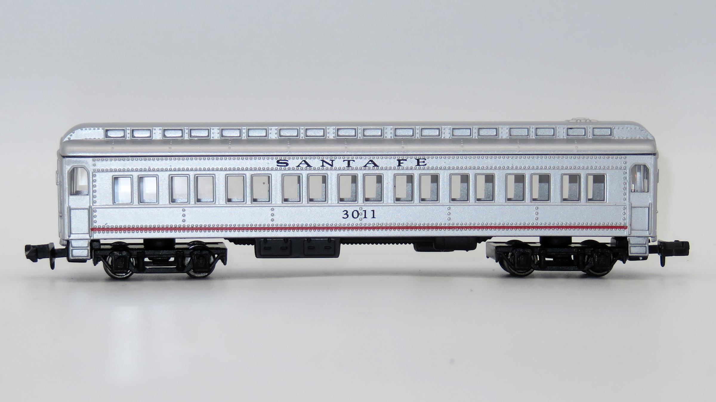 N Scale - Mehano - T772-E - Passenger Car, Heavyweight, ACF Coach - Santa Fe - 3011