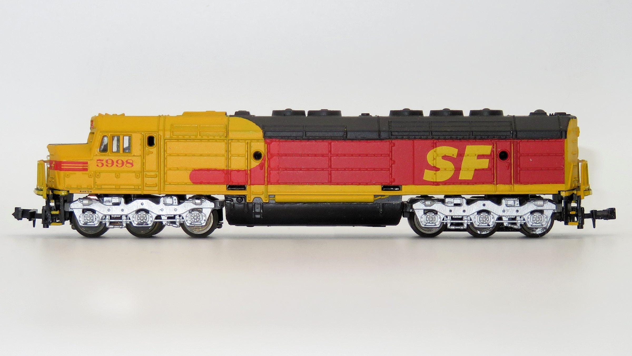 N Scale - Lima - 281-Custom - Locomotive, Diesel, EMD FP45 - Santa Fe - 5998