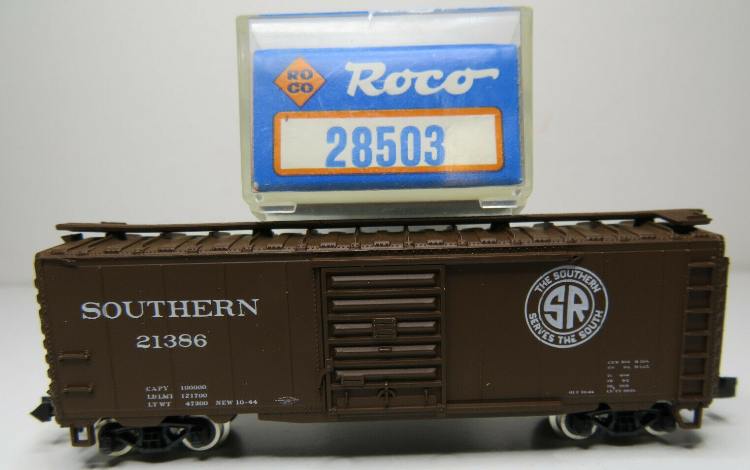 N Scale - Roco - 28503 - Boxcar, 40 Foot, PS-1 - Southern - 21386