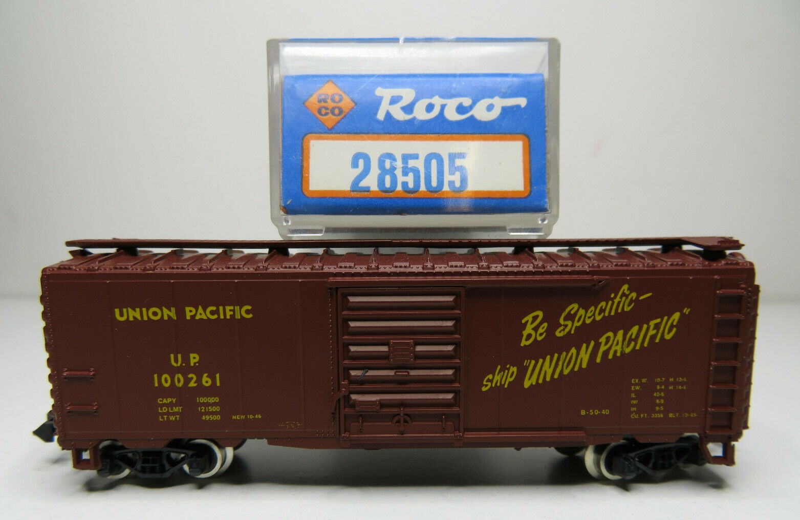 N Scale - Roco - 28505 - Boxcar, 40 Foot, PS-1 - Union Pacific - 100261