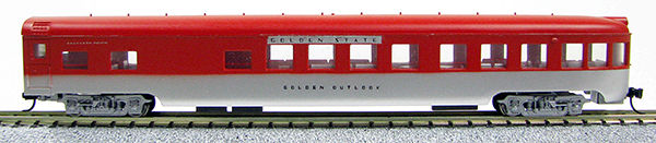 N Scale - Con-Cor - 0001-040206 - Passenger Car, Lightweight, ACF Observation Lounge - Rock Island - Golden