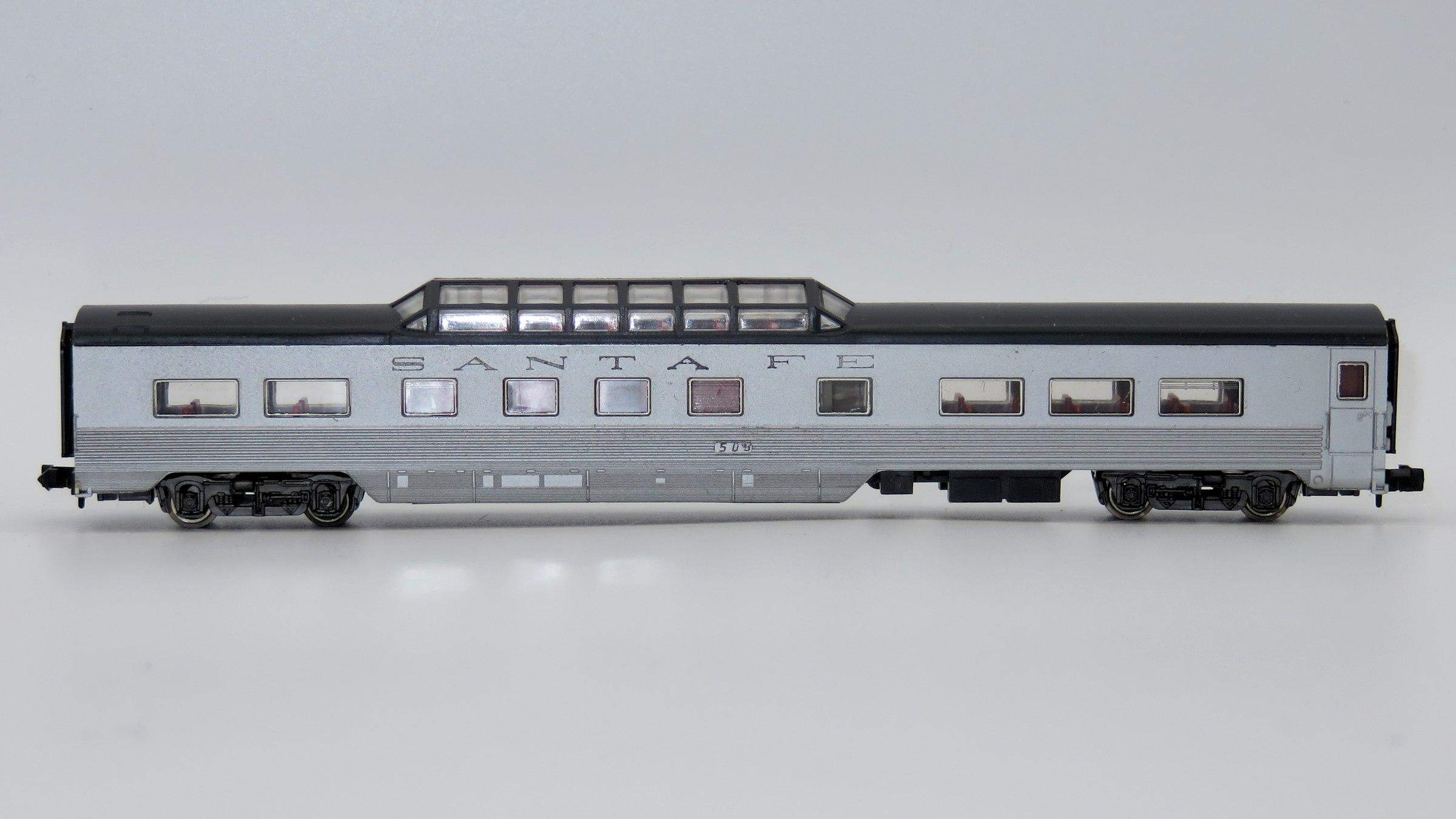 N Scale - Röwa - 8002 - Passenger Car, Pullman, Semi-Corrugated, Dome - Santa Fe - 503