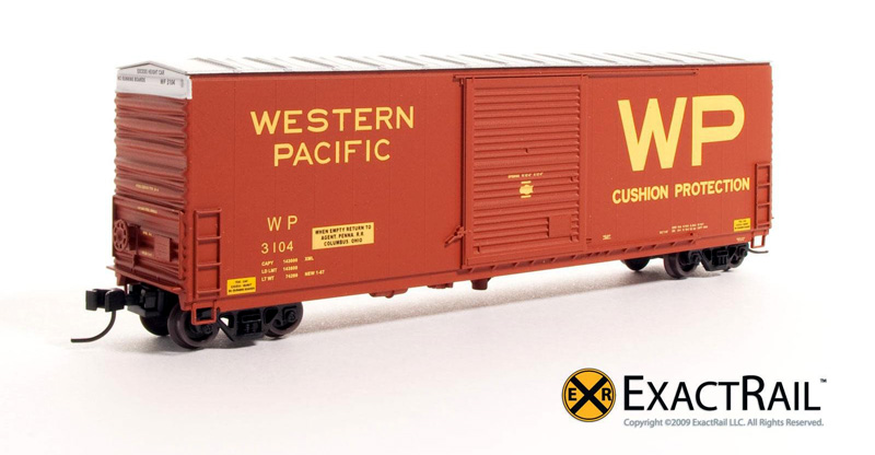 N Scale - ExactRail - EN-50104-3 - Boxcar, 50 Foot, PC&F 6033 c.f. - Western Pacific - 3104