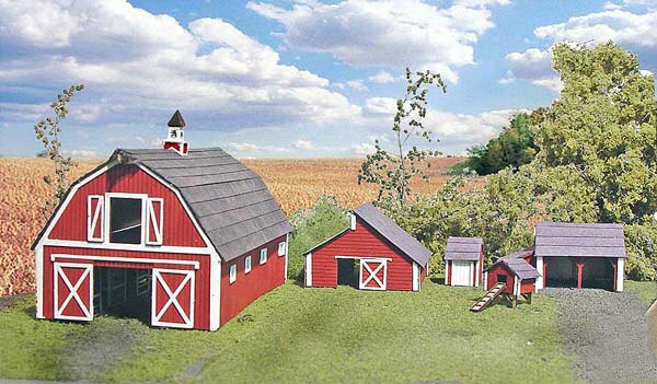 N Scale - Laser-Art - 850 - Agricultural Structures - Barn and Out Buildings (4)