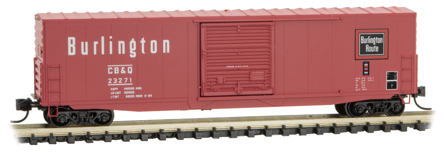 N Scale - Micro-Trains - 180 00 210 - Boxcar, 50 Foot, PS-1 - Burlington Route - 23271