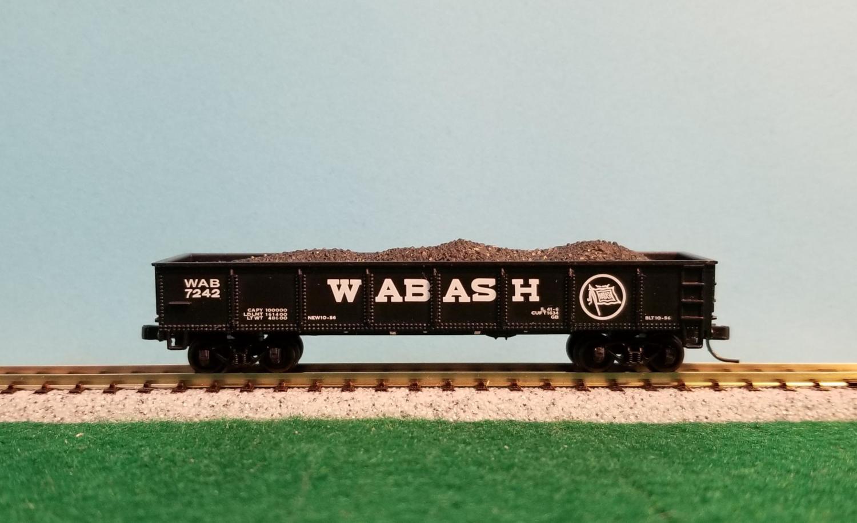 N Scale - Bachmann - 76951 - Gondola, 40 Foot, Steel - Wabash - 7242
