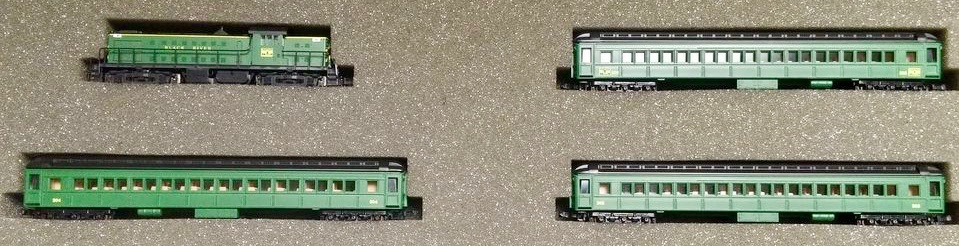 N Scale - Loco-Motives - BRW - Locomotive, Diesel, Alco RS-1 - Black River & Western - RS-1 Train Set