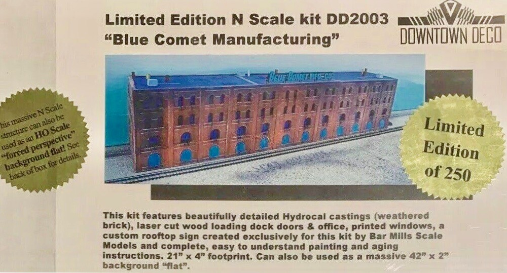 N Scale - Downtown Deco - DD2003 - Structure, Building,Factory,Warehouse - Commercial Structures