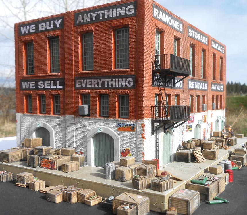 N Scale - Downtown Deco - DD2026 - Structure, Building,Warehouse - Commercial Structures