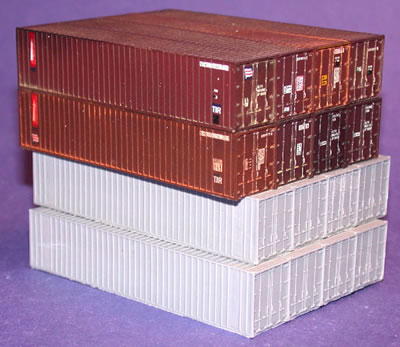 N Scale - Fine N-Scale Products - FNR-2241 - Container, 40 Foot, Corrugated, Dry - Undecorated