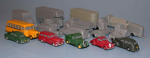 N Scale - Fine N-Scale Products - FNV-304 - Vehicle, Pickup, Sedan Delivery - Undecorated - '40 Ford Pickup, Sedan Delivery