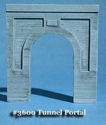 N Scale - Fine N-Scale Products - FNA-3600 - Architectural, Tunnel Portal, Single Track - Undecorated - Concret Tunnel Portal, Single Track