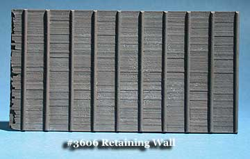 N Scale - Fine N-Scale Products - FNA-3606 - Architectural, Retaining Wall - Undecorated - Pole Timber Retaining Wall