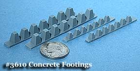 N Scale - Fine N-Scale Products - FNA-3610 - Bridges, Bridge Footings - Undecorated - Concrete Bridge Footings