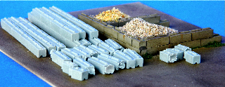 N Scale - Fine N-Scale Products - FNA-3611 - Architectural, Eco-Blocks - Undecorated - Eco-Blocks