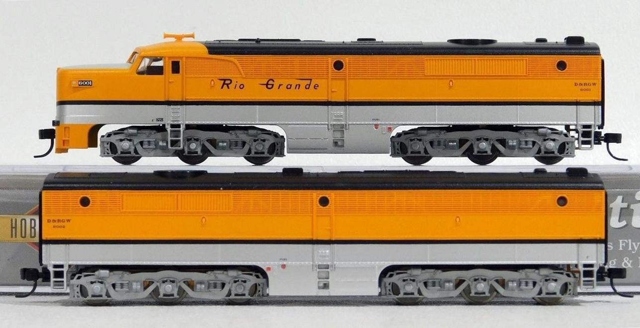 N Scale - Life-Like - 7547 - Locomotive, Diesel, Alco PA/PB - Rio Grande - 6001, 6002