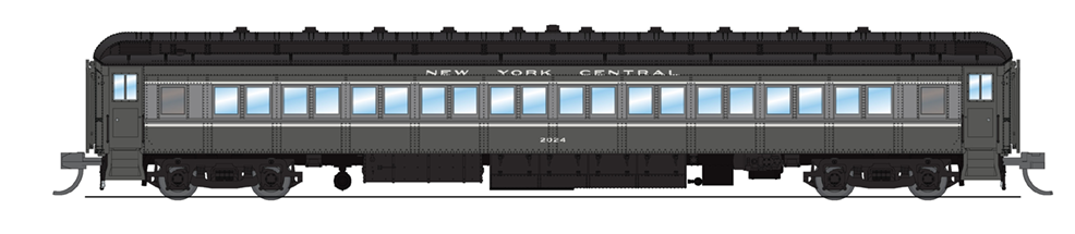 N Scale - Broadway Limited - 6533 - Passenger Car, Heavyweight, Pennsy P70 Coach - New York Central