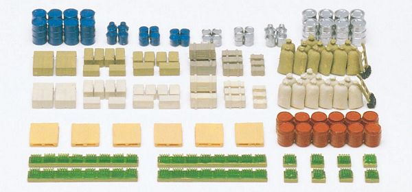 N Scale - Preiser - 79566 - Details, Cargo - Painted/Unlettered