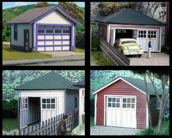 N Scale - Laser-Art - 831 - Structure, Building, Residential, Garage - Residential Structures