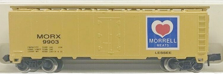 N Scale - E-R Models - 70224 - Reefer, Ice, Steel - Morrell Refrigerator Line - 9903