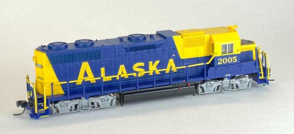 N Scale - Atlas - 49803 - Locomotive, Diesel, EMD GP38 - Alaska Railroad - 2005
