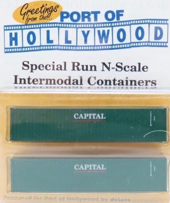 N Scale - Port of Hollywood - Capital - Container, 40 Foot, Corrugated, Dry - Capital - 409669, 412265
