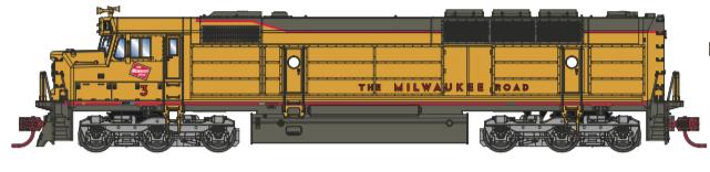 N Scale - Athearn - 15379 - Locomotive, Diesel, EMD FP45 - Milwaukee Road - 4