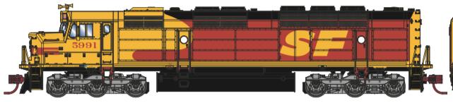 N Scale - Athearn - 15383 - Locomotive, Diesel, EMD FP45 - Santa Fe - 5991
