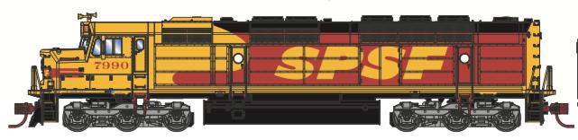 N Scale - Athearn - 15286 - Locomotive, Diesel, EMD FP45 - Southern Pacific & Santa Fe - 7990