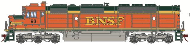 N Scale - Athearn - 15288 - Locomotive, Diesel, EMD FP45 - Burlington Northern Santa Fe - 97