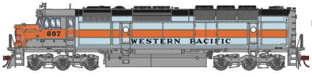 N Scale - Athearn - 15389 - Locomotive, Diesel, EMD FP45 - Western Pacific - 807