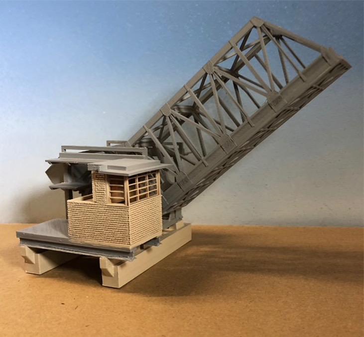 N Scale - Scale Railroad Models - SRM-3072-N - Structure, Bridge, Drawbridge - Bridges and Piers