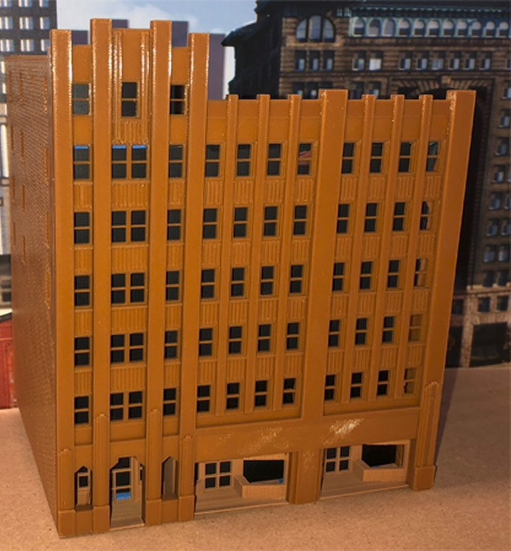 N Scale - Scale Railroad Models - SRM-2051-N - Structure, Building, Commercial, High Rise Office - Commercial Structures