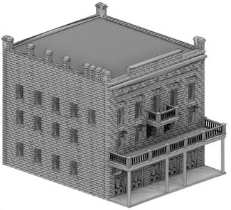 N Scale - Scale Railroad Models - SRM-2039-N - Structure, Building, Commercial,Office - Commercial Structures