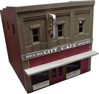 N Scale - Scale Railroad Models - SRM-2040-N - Structure, Building, Commercial, Cafe - Commercial Structures