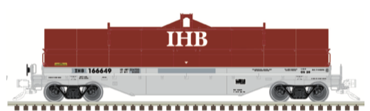 N Scale - Atlas - 50 004 883 - Gondola, Steel Coil, Greenbrier 42 Foot - Indiana Harbor Belt - 166626