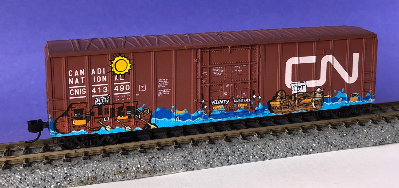 N Scale - Micro-Trains - 027 52 460 - Boxcar, 50 Foot, Steel - Canadian National - 413490