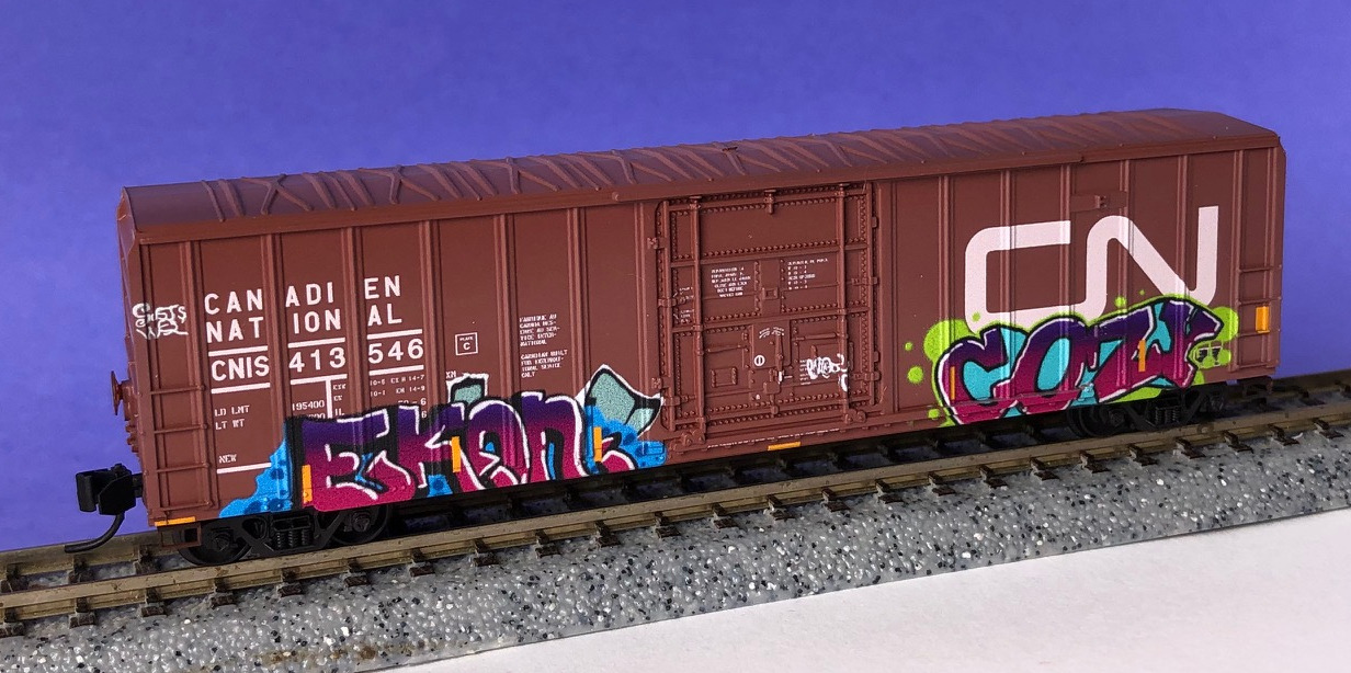 N Scale - Micro-Trains - 027 53 460 - Boxcar, 50 Foot, Steel - Canadian National - 413546
