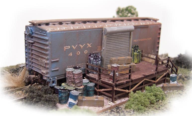N Scale - N Scale Architect - 10034 - Structure, Building, Railroad, Box Car Storage - Railroad Structures
