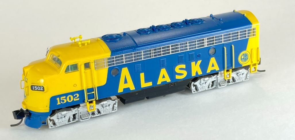 N Scale - InterMountain - 69266-02 - Locomotive, Diesel, EMD F7 - Alaska Railroad - 1502