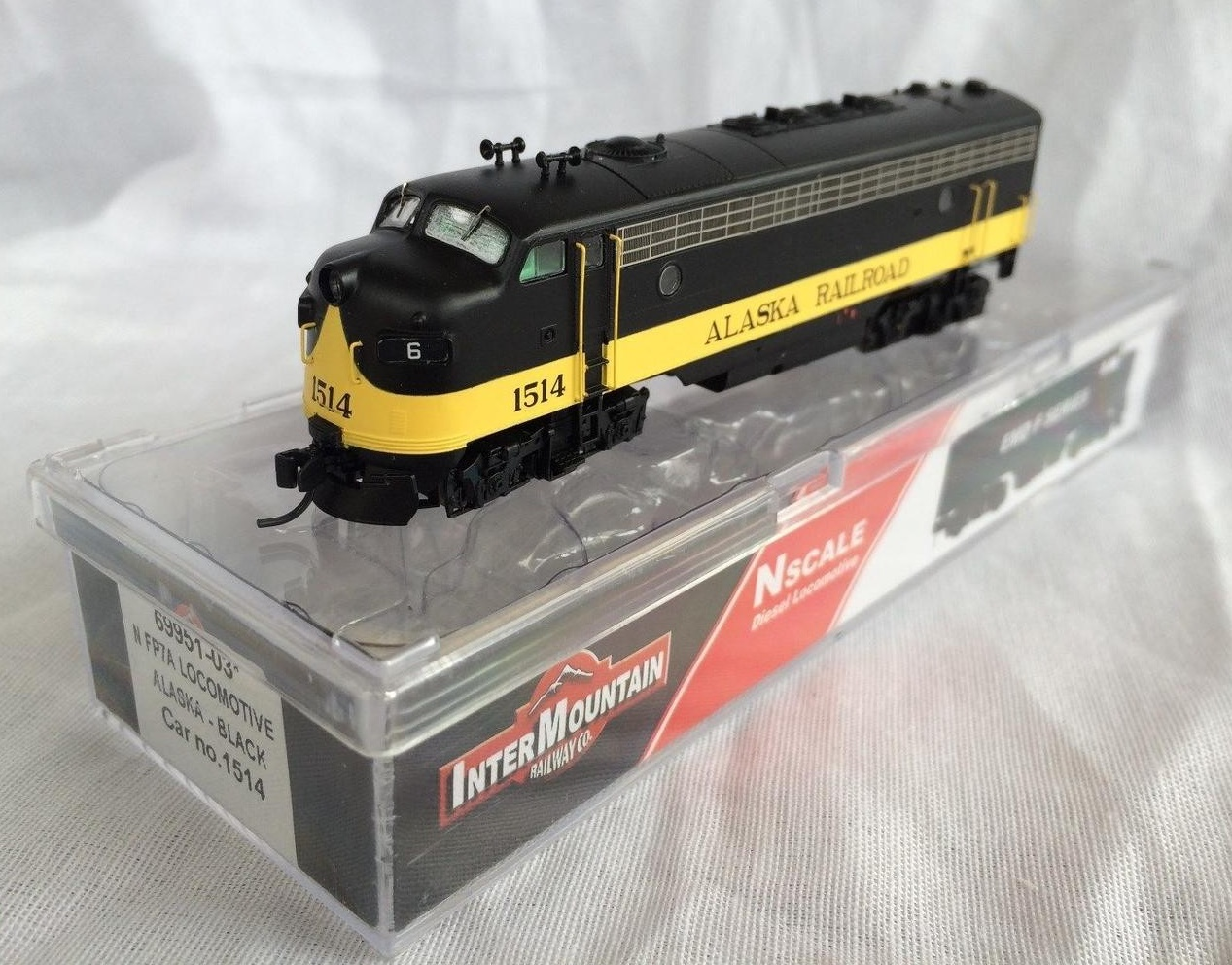 N Scale - InterMountain - 69951-03 - Locomotive, Diesel, EMD FP7 - Alaska Railroad - 1514