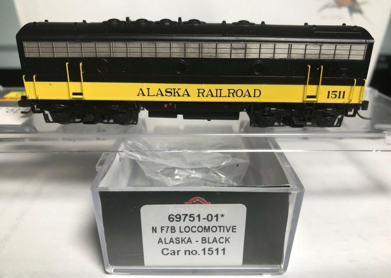 N Scale - InterMountain - 69751-01 - Locomotive, Diesel, EMD F7B - Alaska Railroad - 1511