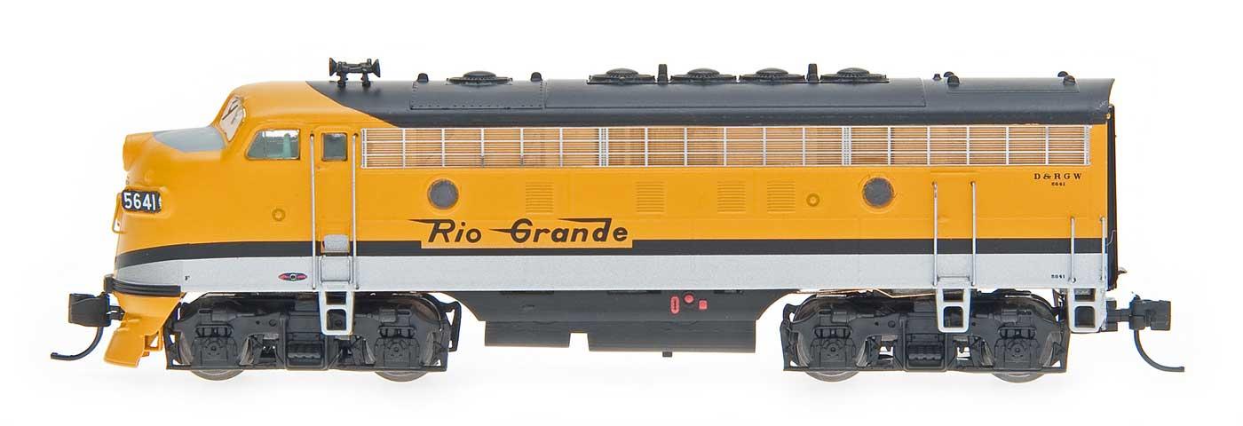 N Scale - InterMountain - 69242-03 - Locomotive, Diesel, EMD F7 - Rio Grande - 5691