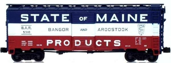 N Scale - InterMountain - 65744-01 - Boxcar, 40 Foot, AAR 1937 - Bangor and Aroostook - 12 Different Available