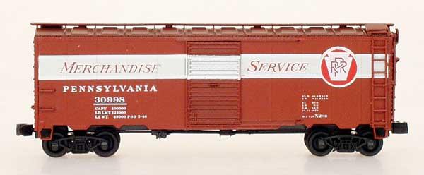 N Scale - InterMountain - 65754-01 - Boxcar, 40 Foot, AAR 1937 - Pennsylvania - 12 Different Available